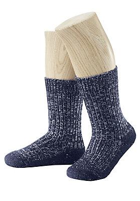 - Melangesocke aus Schurwolle mit Leinen