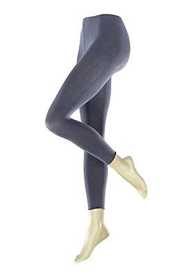 - Melierte Feinstrumpf-Leggings aus Bio-Baumwolle
