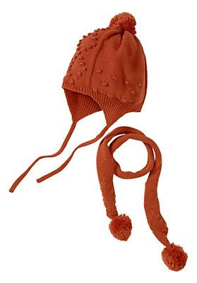 - Mütze und Schal im Set aus reiner Bio-Baumwolle