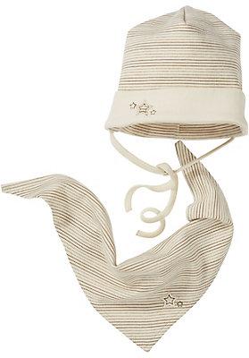 - Mütze und Tuch im Set aus reiner Bio-Baumwolle