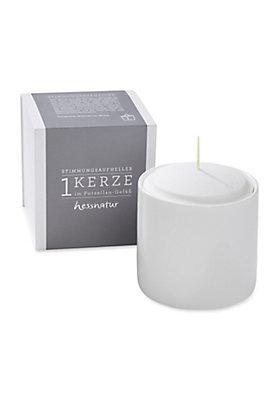 - Natur-Kerze im Porzellangefäß, Größe L
