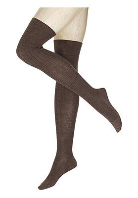 Stulpen/Overknees - Overknees aus Schurwolle mit Bio-Baumwolle