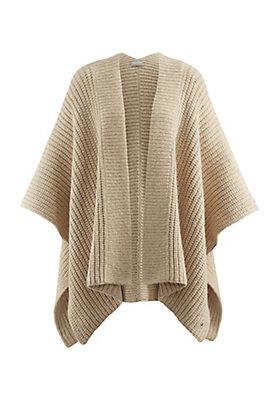 - Poncho aus Alpaka mit Bio-Baumwolle
