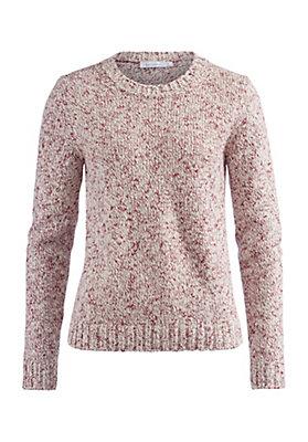 - Pullover aus Schurwolle mit Baumwolle