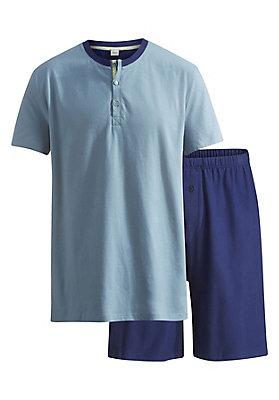 neu-haka-waesche - Pyjama Shorty aus reiner Bio-Baumwolle