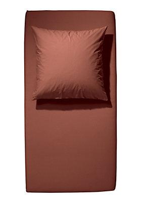 - Renforcé-Spannbetttuch aus reiner Bio-Baumwolle