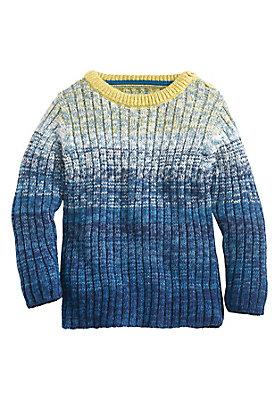 - Ringelpullover mit Verlauf aus reiner Bio-Baumwolle