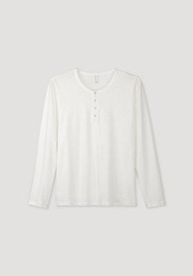 - Schlafshirt mit Knopfleiste aus reiner Bio-Baumwolle