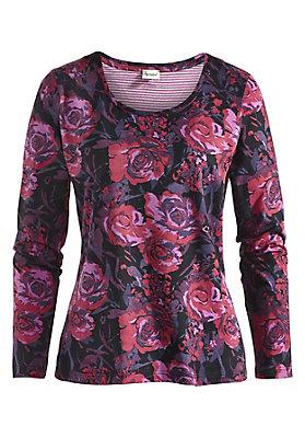 Shirts - Shirt mit Blumenmuster aus reiner Bio-Baumwolle