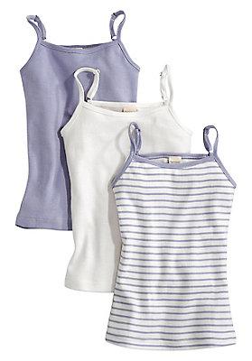 Unterhemden - Spagettiträgerhemd 3er-Set aus reiner Bio-Baumwolle