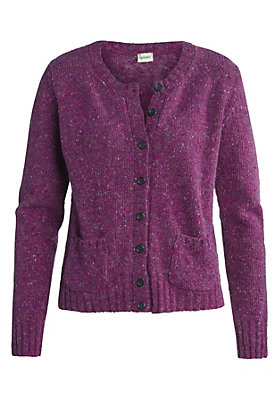 - Strickjacke aus Tweedgarn