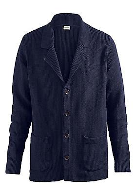 Pullover-und-Strickjacken Herren - Strickjacke aus reiner Bio-Baumwolle