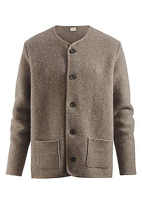 Jacken - Strickjanker aus reiner Schurwolle