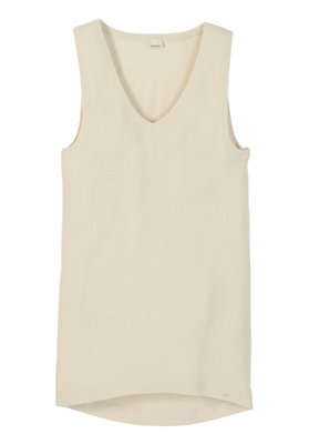 - Trägerhemd aus Bio-Baumwolle mit Bio-Schurwolle