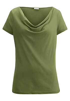 - Wasserfall-Shirt aus reiner Bio-Baumwolle