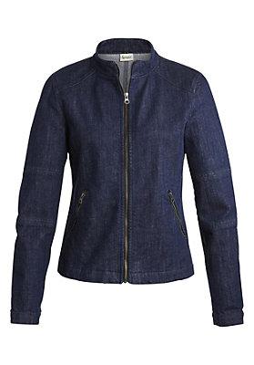 damen-neuheiten-herbst-kollektion-2014 - Wolldenim Jacke aus Bio-Baumwolle mit Bio-Schurwolle