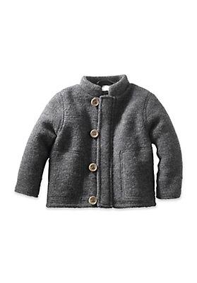 - Wollfleece Jacke aus reiner Bio-Schurwolle
