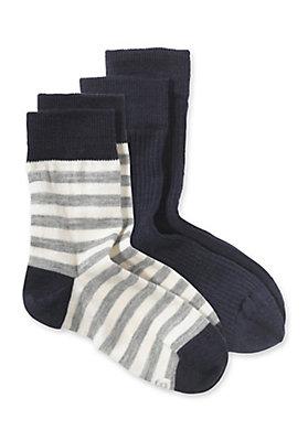 - Wollsocke im 2er-Pack aus Schurwolle mit Baumwolle