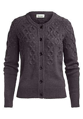trends-winter-grobstrick - Yak-Strickjacke