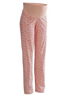 - bedruckte Schwangerschafts Pyjamahose aus reiner Bio-Baumwolle