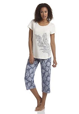 - 3/4-Pyjamahose aus reiner Bio-Baumwolle