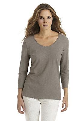 - Basic-Shirt mit 3/4-Arm aus reiner Bio-Baumwolle