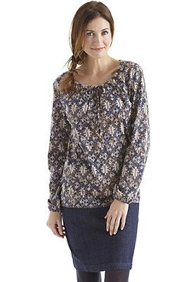 damen-neuheiten-herbst-kollektion-2014 - Bedruckte Bluse aus reiner Bio-Baumwolle