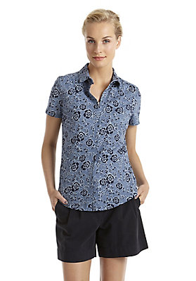 - Bedruckte Bluse aus reiner Bio-Baumwolle
