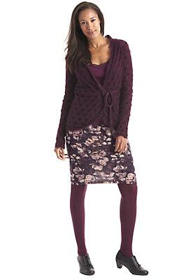 damenkleidung-aus-schurwolle - Bedruckter Strickrock aus Schurwolle mit Kaschmir