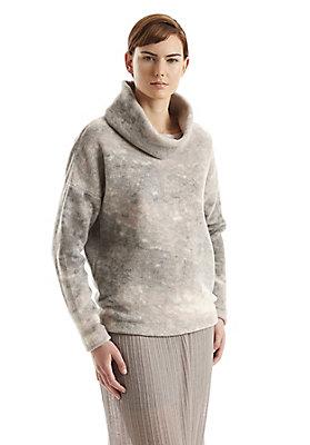 - Bedruckter Wollfleece Pullover