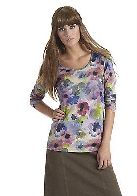 - Bedrucktes Damen-Shirt aus reiner Bio-Baumwolle