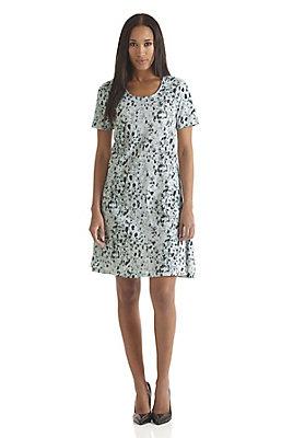- Bedrucktes Jersey-Kleid aus reiner Bio-Baumwolle