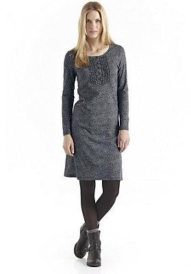 - Bedrucktes Kleid aus reiner Bio-Baumwolle