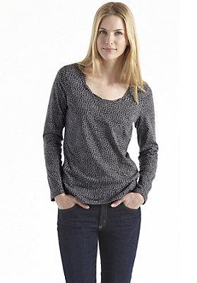 kw38-2014-besteller-damen - Bedrucktes Shirt aus reiner Bio-Baumwolle