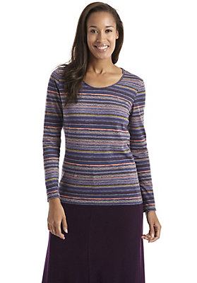 buero-outfits - Bedrucktes Shirt mit Streifen aus reiner Bio-Baumwolle