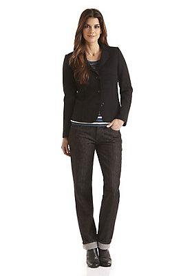- Black Denim Jeans aus Bio-Baumwolle mit Schurwolle
