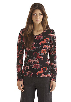 - Blumenmuster-Shirt aus reiner Bio-Baumwolle