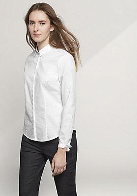 - Bluse Slim Fit aus Bio-Baumwolle