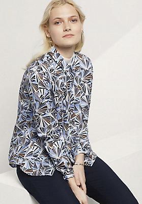 - Bluse aus Baumwolle mit Seide