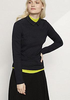 - Bluse aus Bio-Baumwolle mit Modal