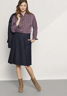- Bluse aus Bio-Baumwolle mit Seide und Hanf