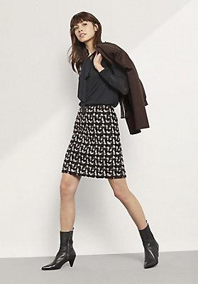 - Bluse aus Modal mit Schurwolle