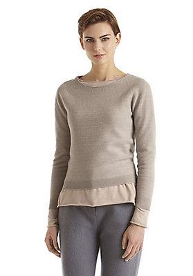 - Boiled Wool Pullover aus reiner Bio-Merinowolle