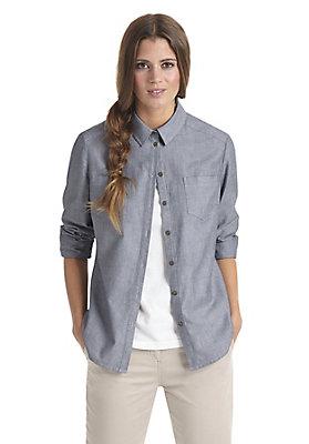 - Chambray-Bluse aus reiner Bio-Baumwolle