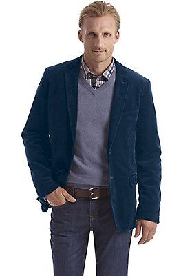 herrenkollektion-in-blau - Cordsakko aus reiner Bio-Baumwolle