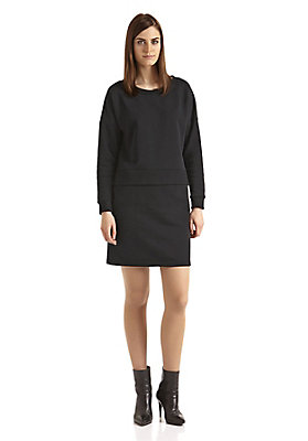 - Damen 2-in-1-Sweatkleid aus reiner Bio-Baumwolle