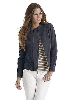- Damen Jacke aus Bio-Baumwolle mit Hessen-Leinen