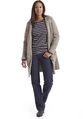- Damen Jeans Comfort Fit aus Bio-Baumwolle mit Schurwolle