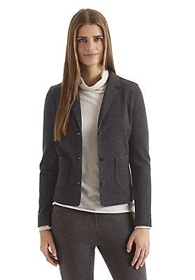 - Damen Jersey-Blazer mit Bio-Schurwolle und Bio-Baumwolle