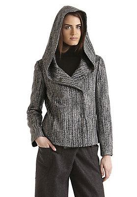 - Damen Kapuzenjacke aus reiner Schurwolle